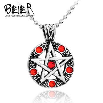 Cheap Fashion Pendants 2015 Cool Necklaces For Men Women Trendy Hexagram Blue/Red Crystal Pendant BP8-003