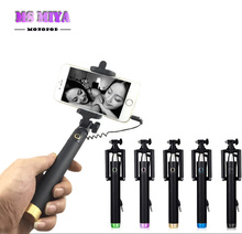 Extendable Wired Selfie Stick Monopod Bastone Pau De Palo Selfie Stick to Self for iPhone 6 5 Samsung Android Universal Monopod