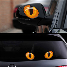 Car Auto Eye Lash 3D Funny Car rear view mirror side back window funny sticker 3d reflective for mini cooper etc(China (Mainland))