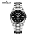 Reef Tiger RT Swiss Brand Dress Business Watches for Men Automatic Watch Stainless Steel Waterproof Watch