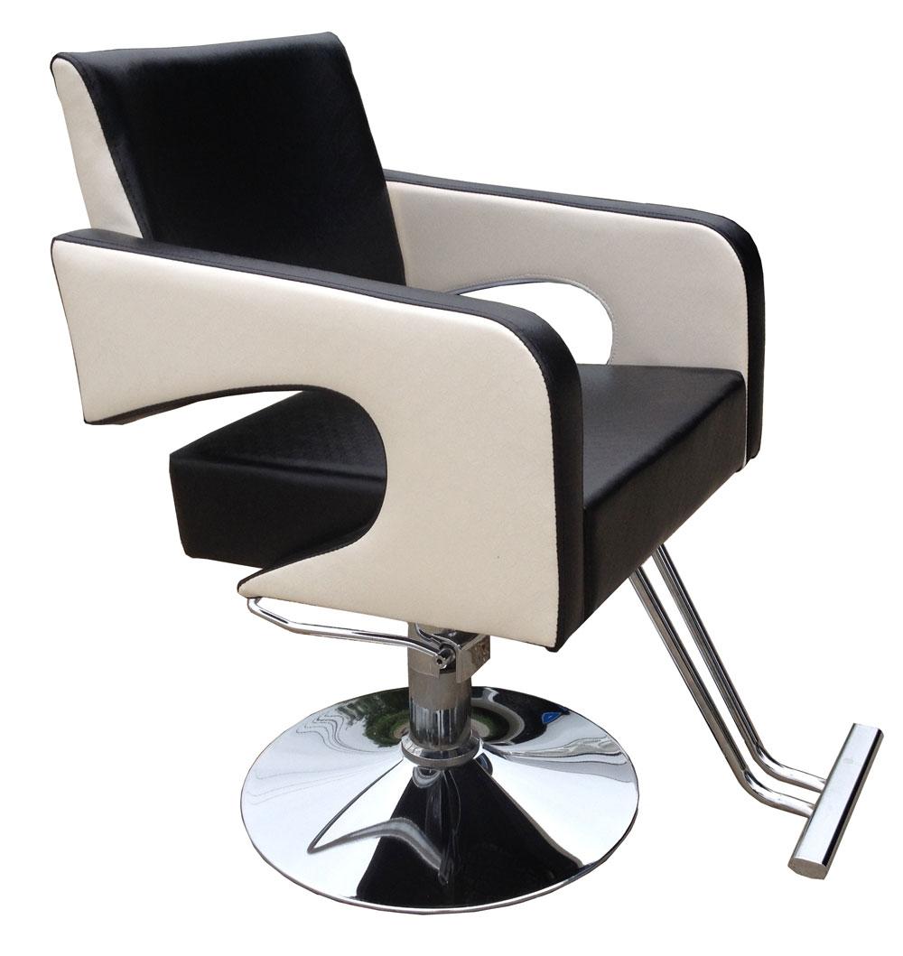 Salon haircut chair hair salons fashion black and white for Hairdressing chairs