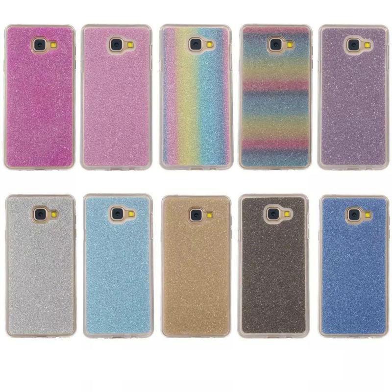 Rainbow Glitter Powder Sparkle Soft TPU Case For LG K10/Galaxy J310/J510/J710/A310 A510 A710 S7/Edge/S7 Plus Cover Skin 150pcs(China (Mainland))