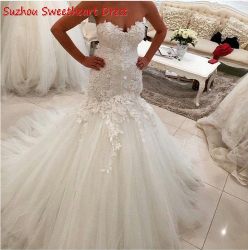 Actual image mermaid wedding dresses sweetheart corset for Bling corset mermaid wedding dresses