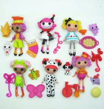 6PCS Lot Mini Lalaloopsy dolls ALICE IN WONDERLAND & WACKY HATTER Children animation girl toys