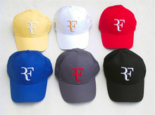 100% Cotton New 2015 Spring and autumn  Sports Cap Snapback Women and men Baseball Cap Roger Federer RF Hybrid Hat(China (Mainland))