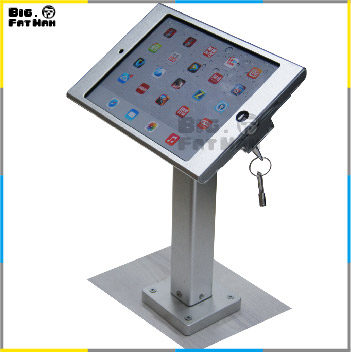 wall mount holder mounting aluminum metal case lazy bracket tablet desk bed metallic housing stand for iPad mini  lock holder<br><br>Aliexpress