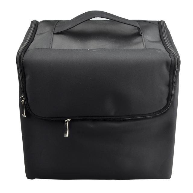 TEXU Макияж Профессиональный Хранения Красоты Косметический Организатор Путешествия Carry Case Black