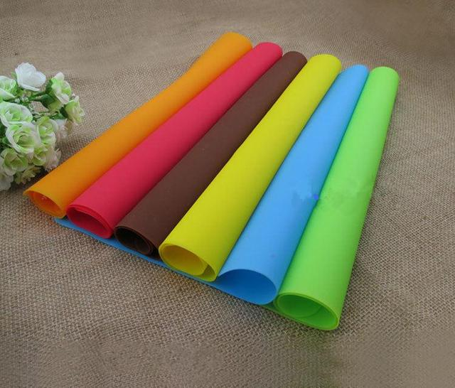 40x30cm Silicone Mats Baking Liner Best Silicone Oven Mat Heat Insulation Pad Bakeware Kid Table Mat Hot Sale
