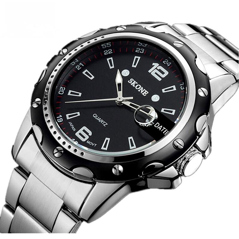 Часы мужчины люксовый бренд бизнес кварца спортивные мужские полное стали наручные часы погружения 30 м свободного покроя часы relogio masculino