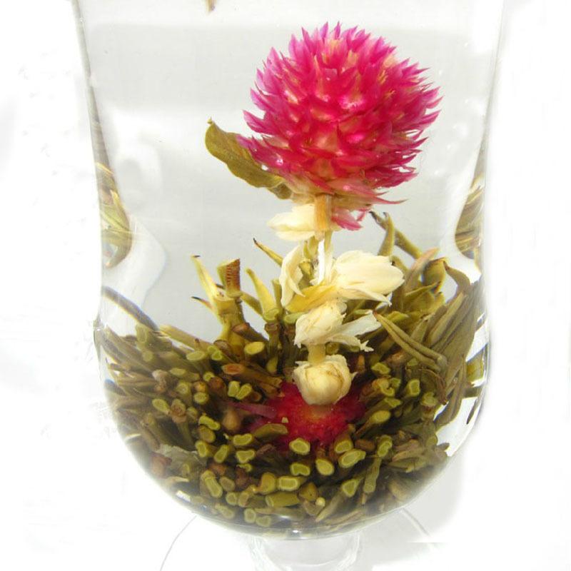 20 X Different Handmade New Designed Beautiful Blooming Flower Green Tea Ball #48430(China (Mainland))