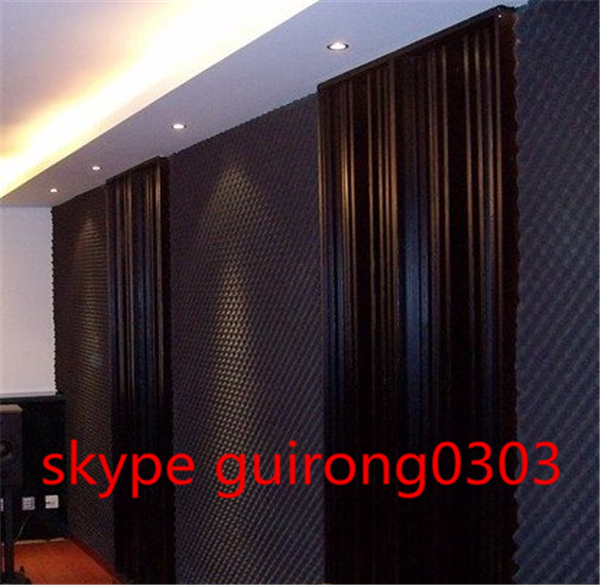 Thickness 65mm acoustic sound-absorbing cotton soundproofing wall covering paypal flame-retardant(China (Mainland))