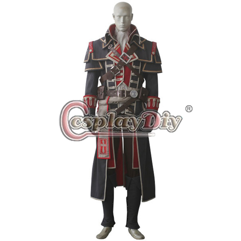 Assassin's Creed Shay Patrick Cormac Costume Outfit Adult Men's Assassins creed cosplay costume custom made(China (Mainland))
