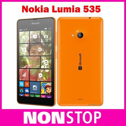 "Original Cell Phone Nokia Lumia 535 Quad Core Dual SIM Qualcomm 5.0"" Touch Screen 5MP Camera WCDMA 3G Window Phone free shipping(China (Mainland))"