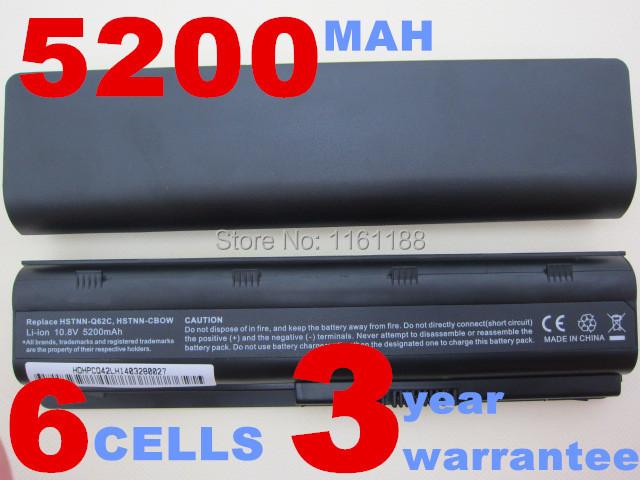 5200MAH 6cells battery notebook laptop batteries FOR HP Compaq MU06 MU09 CQ42 CQ32 G62 G72 G42 593553-001 DM4 593554-001(China (Mainland))