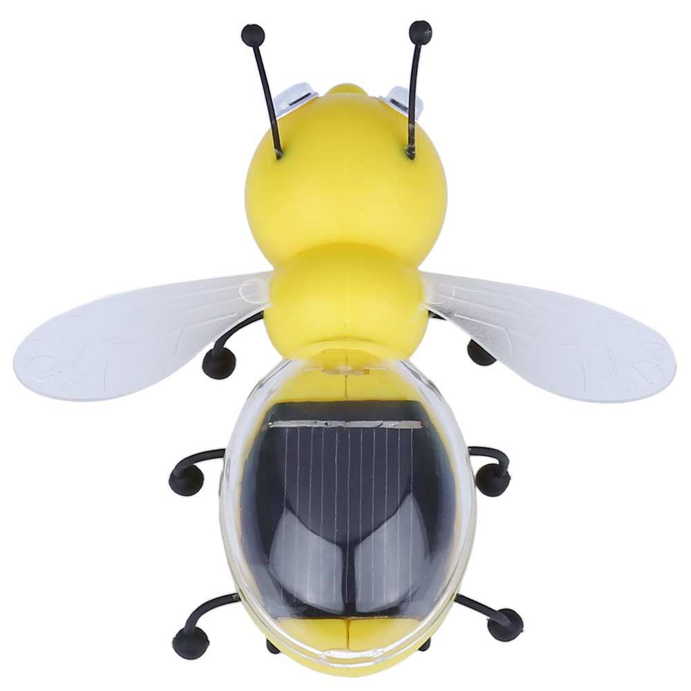 2016 New Kids Toy Solar Power Bee Animal Educational Toy with Solar Panel Children Educating Toy Gift For Kids Solar Energy Toys(China (Mainland))
