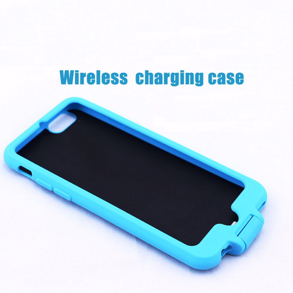 wireless charging case for iphone 6 plus built in qi compatible slim case silicon material. Black Bedroom Furniture Sets. Home Design Ideas