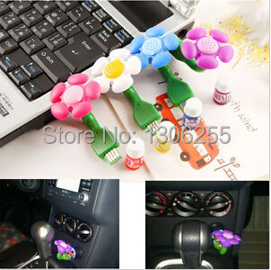 1pcs Fashion Mini Portable USB Perfume Aroma Diffuser / Flower Vehicle-mounted Air Purifier for car(China (Mainland))