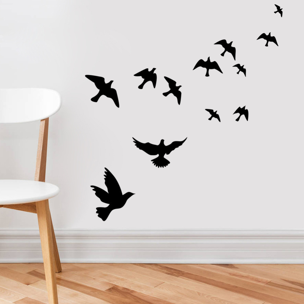 flying pigeon bird wall art stickers decal diy home decoration wall mural removable living room bedroom