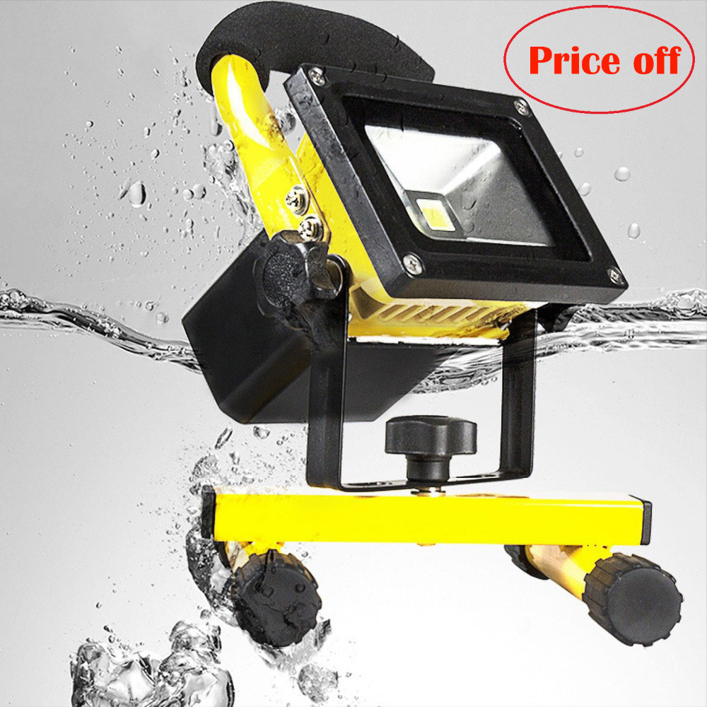 Outdoor Christmas Spotlight Flood Lights Rechargeable Led Floodlight Lithium-ion Battery 5w Lamp Portable Light Ip65 (90-260v(China (Mainland))