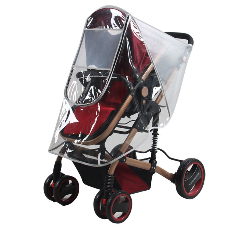 Baby stroller rain cover Frosted rain coat PVC Universal Wind Dust Shield with windows Pushchairs stroller accessories(China (Mainland))