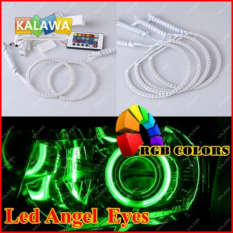 7 COLORS RGB SMD LED ANGEL EYES HALO RINGS KIT With Remote Control fit for Hon.da New Jazz Fit 2008-2009 FREESHIPPING GGG<br><br>Aliexpress