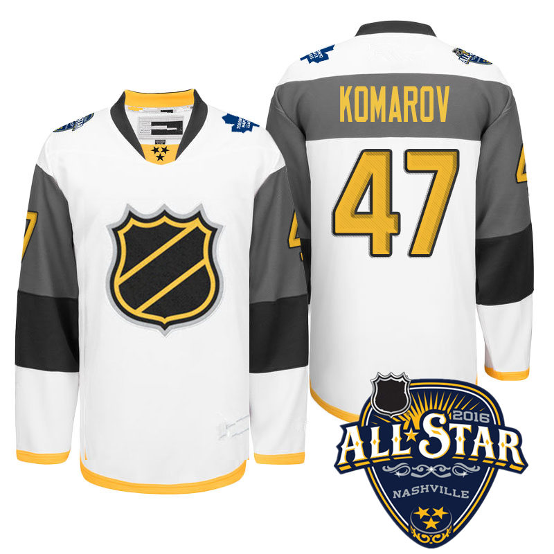 Newest! Mens Stitched  White #47 Leo Komarov Ice Hockey 2016 All Star Jersey Size M-XXXL with Toronto patch