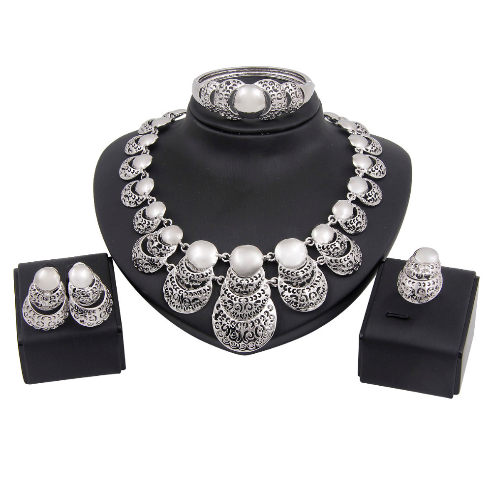 Bridal Party Jewelry Gift Sets : Brand Women Costume Wedding Bridal Jewelry Set 2015 Vintage Party Gift ...