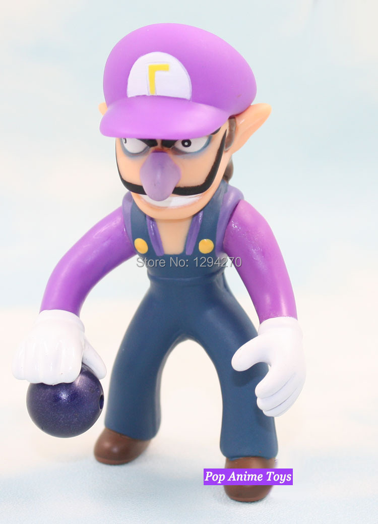Super Mario Action Figures High Quality Super Mario Bros PVC Waluigi/ Wario Action Figures 2Pcs/set Best Kids Toys(China (Mainland))