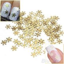 50Pcs Golden 3D Metal Sticker Decal Manicure Tool Nail Art Phone Decoration