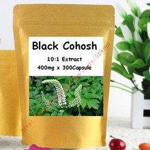 Nature Black Cohosh 10:1 Extract 400mg x 300Capsule Womens Natural Hormonal Balance Support Supplement free shipping(China (Mainland))