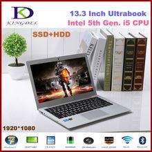 13.3″ Full HD 1920*1080 Screen Core i5 Laptop Computer 8GB DDR3 64GB SSD+500GB HDD Windows 7/8.1 Notebook NGFF HDMI USB 3.0 Wifi