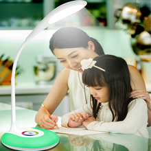 Touch Switch RGB color LED book Light Desk Lamp Reading book reading light Rechargeable Eyes Protecting led color change