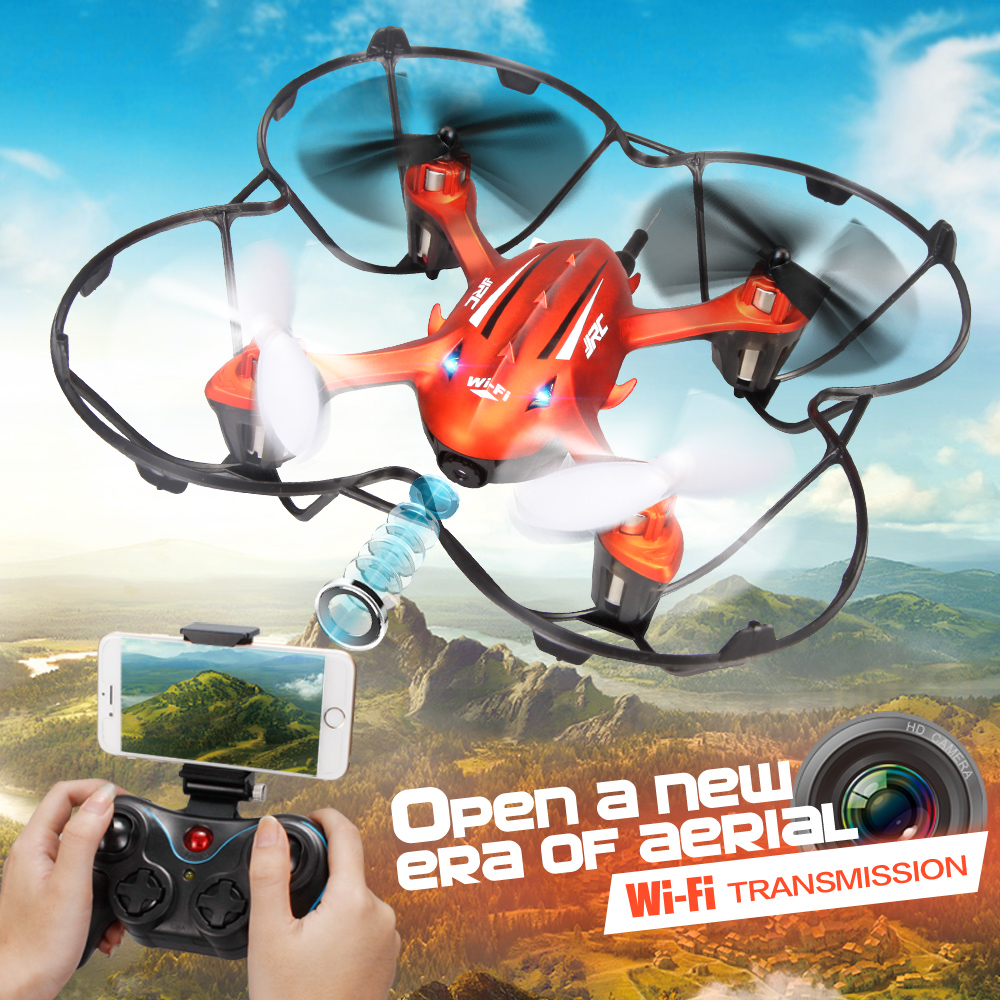 2017 Newest! Mini Drone JJRC H6W Real Time Video FPV Quadcopte RC Toys Dron With 2MP Hd Wifi Camera RC Helicopter Toys For Kids(China (Mainland))
