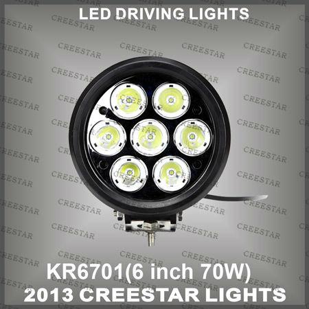 "70W 6"" 7x10W/pcs CREE 9-70V LED DRIVING LIGTHT&OFF ROAD LIGHT 7000 LUMEN KR6701(China (Mainland))"