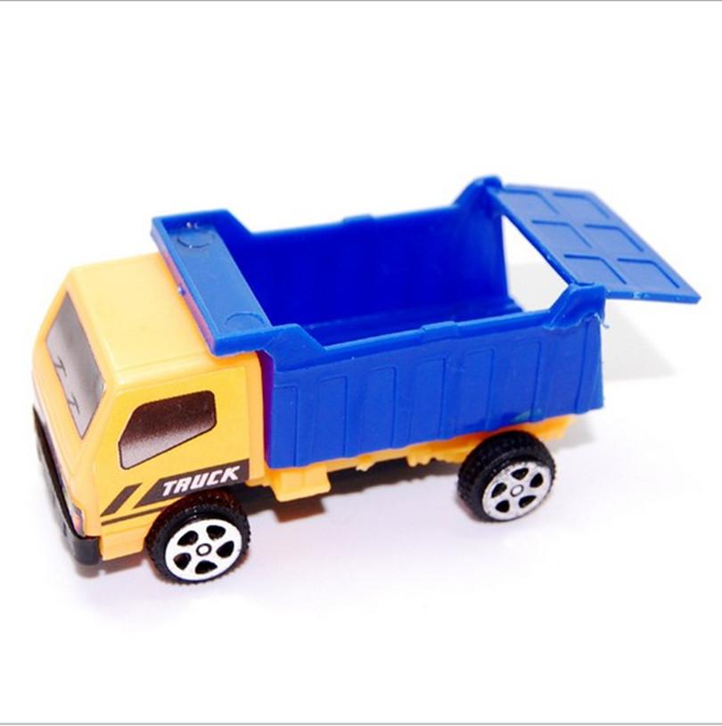 2 pcs Engineering vehicle autotruck for kids toys gift transport machine Mini sliding car truck model children's educational(China (Mainland))