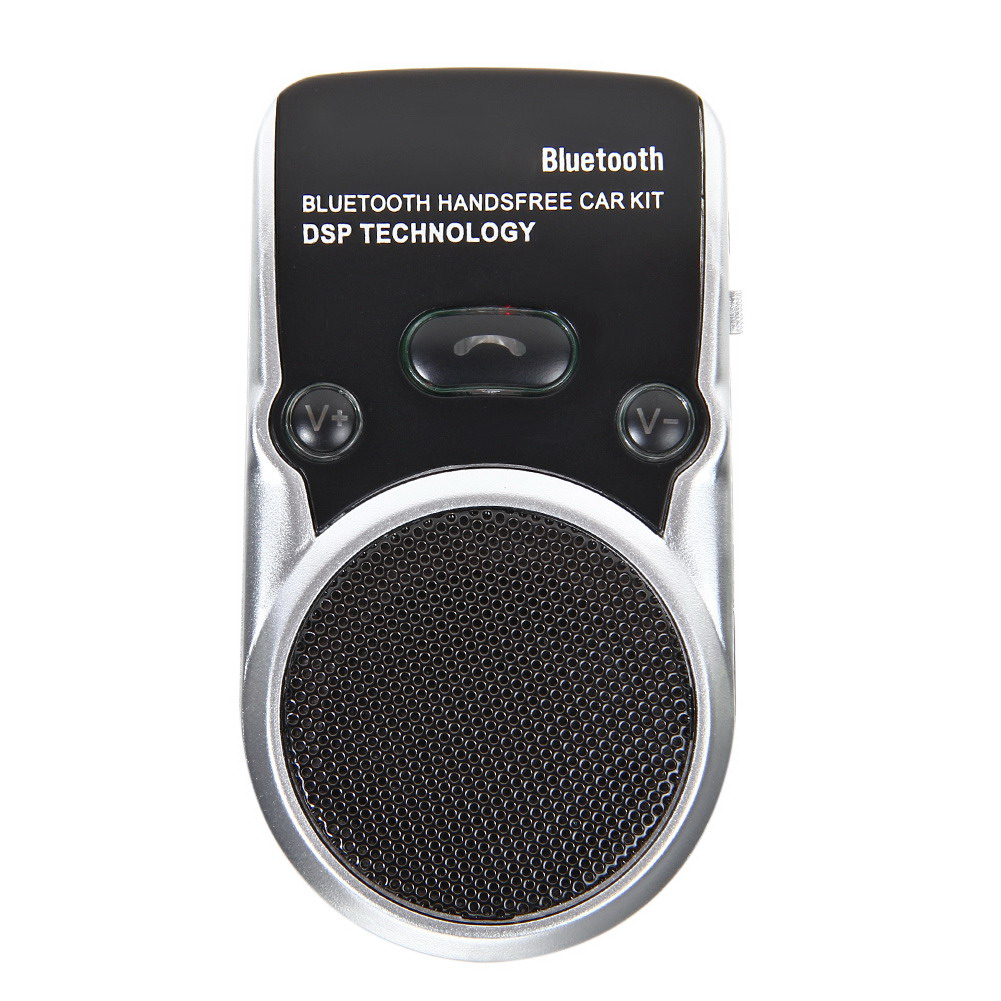 Solar Powered Speakerphone Wireless Bluetooth Handsfree Car Kit For Mobile Phone Dual Phone Connect Free Shipping MGO3(China (Mainland))