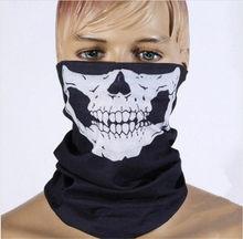 100 pcs À Prova de Vento Camo Paintball Wargame Militar Tactical Airsoft Caça HarfFace Deadpool Fantasma da Máscara Do Crânio Quick Dry Máscaras(China)