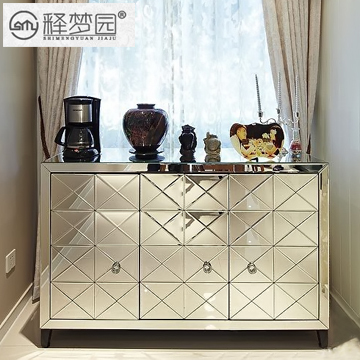 Interpretation of Dreams Park, the high-end European fashion entrance foyer mirror shoe storage cabinet Sideboard Storage F1724(China (Mainland))
