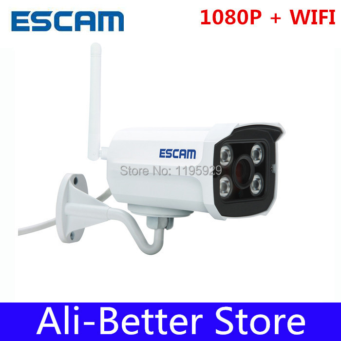 Escam 1080 P кирпич QD900 WIFI 2 Мп полный сети HD пуля ик камера день / ночь IP66 onvif 2.2 3.6 мм фиксированный объектив беспроводная ip камера