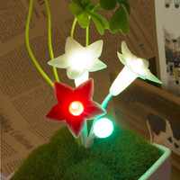 HOT Sale Five-pointed Star Floral Plug Touch Control Kids Night Light Lamp 110-220V 3 LED,Grass Plants LED Night Lights RM019
