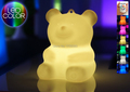 Waterproof multicolor LED teddy bear Night Light Rechargeable luminous Bear LED atmosphe Ted Table Lamp MINI