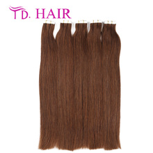 4 Hot selling tape in human hair extensions dark brown color 20pcs 40pcs package skin