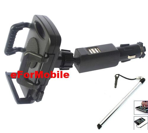 Plastic Universal Rotary Mobile Phone Car Holder Stand USB Car Ligher Charger For Lenovo P70, Lenovo Vibe S1,Lenovo Vibe P1m(China (Mainland))