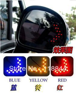 Free shipping car hidden arrow 14 smd1210 rearview mirror led decorative lights reverse direction, turn signal lamp(China (Mainland))