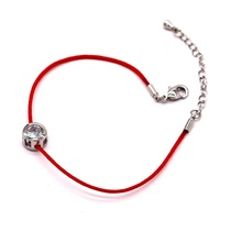 Lucky zircon red string chain bracelet 2016 new bijoux simple bracelets for women hot selling classic jewelry wholesale gift(China (Mainland))