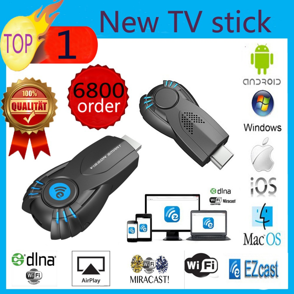 Vensmile V5ii Best Smart TV Stick Ezcast Miracast Dongle DLNA Airplay MirrorOP For IOS Andriod OS Windows better than android tv(China (Mainland))