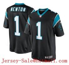2016 Man New Carolina panthers, 59# Luke Kuechly,1# Cam Newton, black white blue 100% stitched Logo and name(China (Mainland))