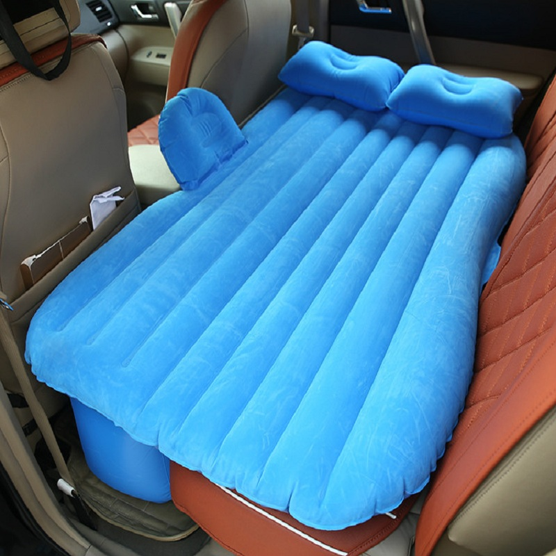 Top Selling(blue and beige) Car Back Seat Cover Car Air Mattress Travel Bed Inflatable Mattress air Bed Inflatable Car Bed(China (Mainland))
