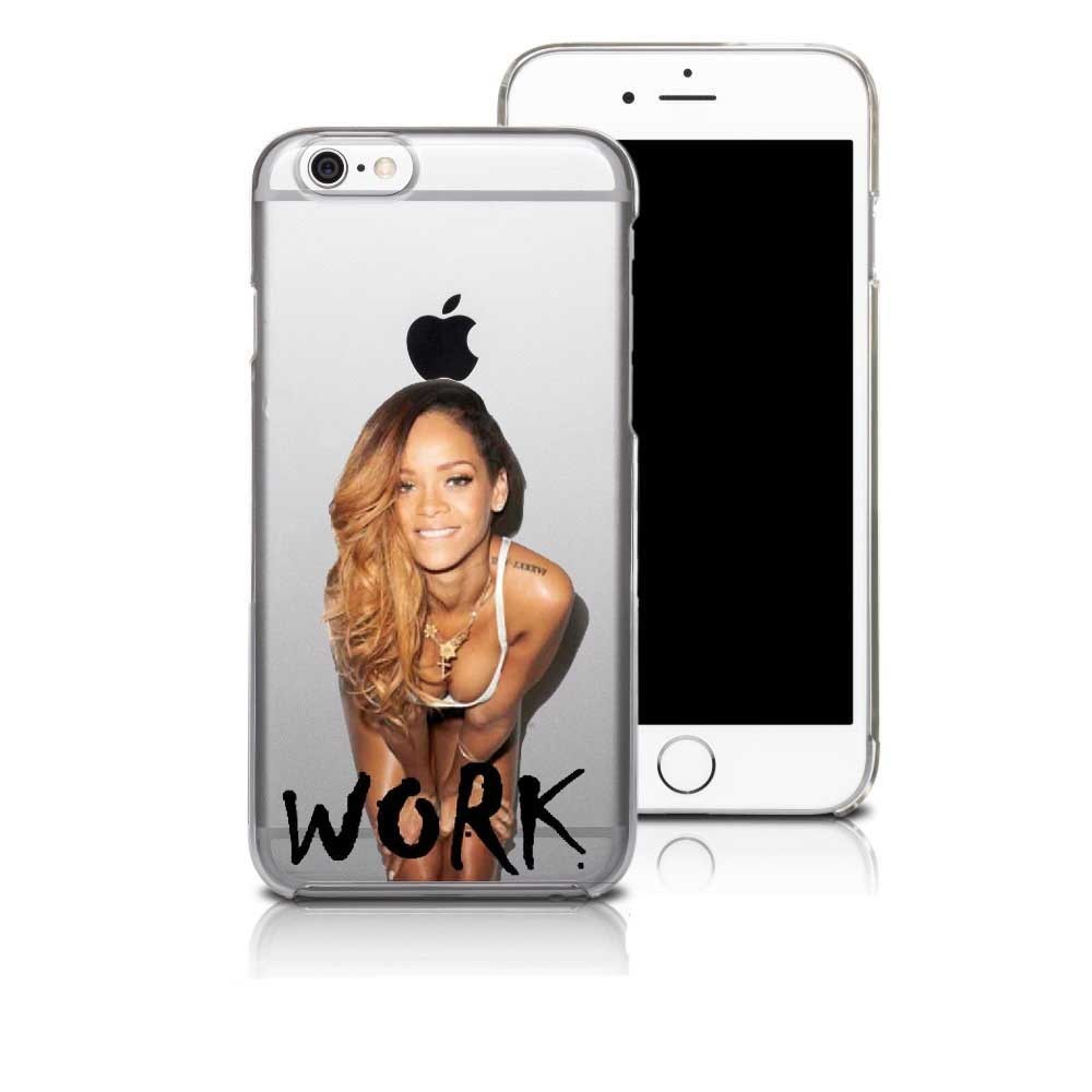 Rihanna Drake Work Beyonce Flawless Swag Transparent clear Soft silicone TPU Case Cover for iPhone SE 5 5S 6 6S 6Plus 7 7Plus
