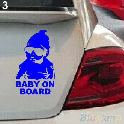 Baby on Board Car Safty Sticker Decal Waterproof Night Reflective Wall Stickers car covers 1VND